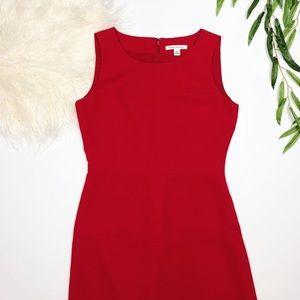 Banana Republic   red sleeveless midi dress